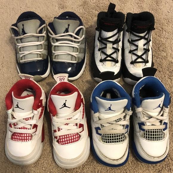 Lot 4 Pairs Air Jordan Retro Baby